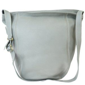 Coach 4916 Leather Shoulder Bag Gray